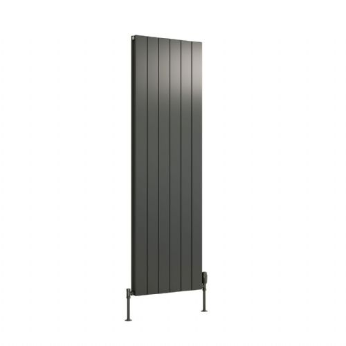 Reina Casina Double Vertical Designer Radiator - 1800mm High x 375mm Wide - Anthracite